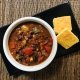 Hoguera Chili bowl with corn bread